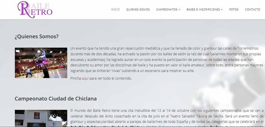 Actualidad Actualidad La Asociación Nacional del Baile Retro estrena página oficial