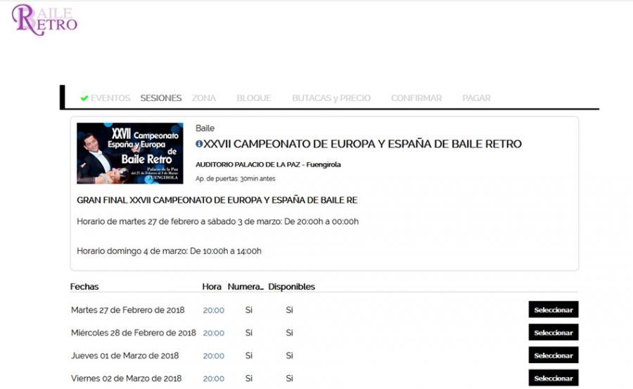 Actualidad Actualidad Ya están a la venta las entradas para asistir como espectador al XXVII Campeonato de España y Europa de Baile Retro