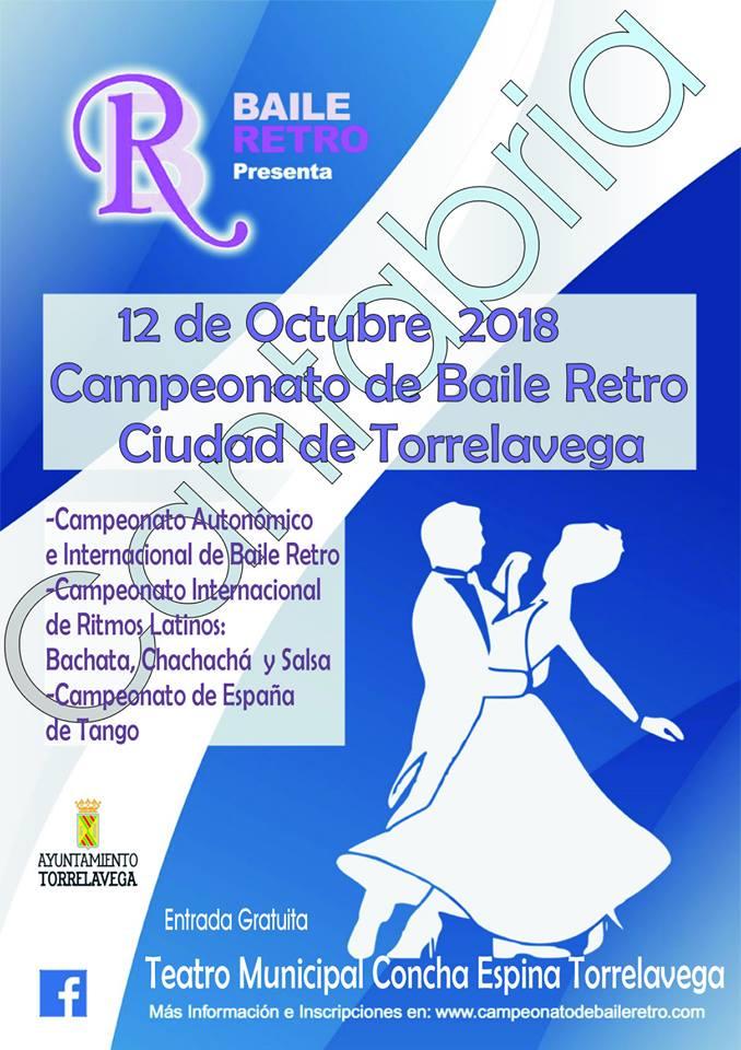 Actualidad Actualidad Cartel del I Campeonato de Baile Retro Autonómico e Internacional Ciudad de Torrelavega 2018