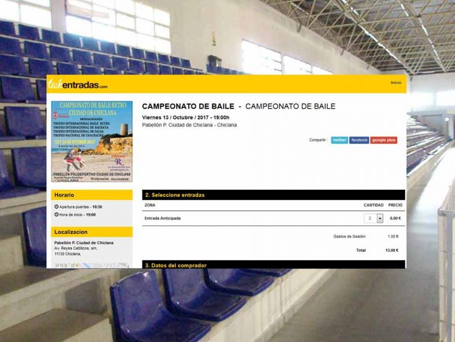 Campeonato en Chiclana Octubre 2017 Información A la venta en Tickentradas.com las localidades para el Campeonato de Baile Retro Ciudad de Chiclana